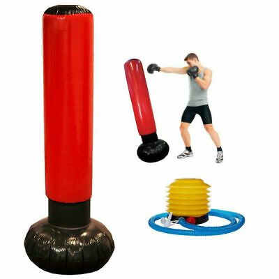Inflatable Stress Punch Tower Free Standing Box Boxing Bop Workout Bag Free Pump