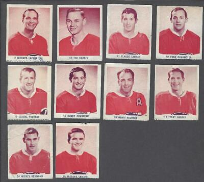 1967-68 Les Canadiens IGA Series 2 Hockey Cards Lot of 11