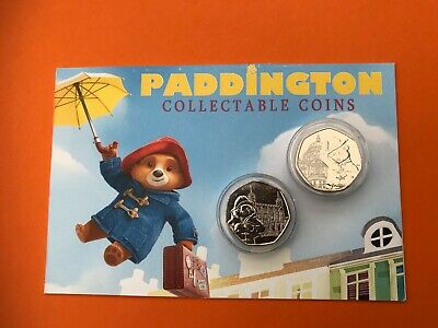 2019 Paddington 50P coins set of 2 St Pauls/ The Tower uncirculated