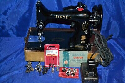 Singer 99-31 Sewing Machine 1956  Serviced Has Attachments Base Sews Nice Stitch