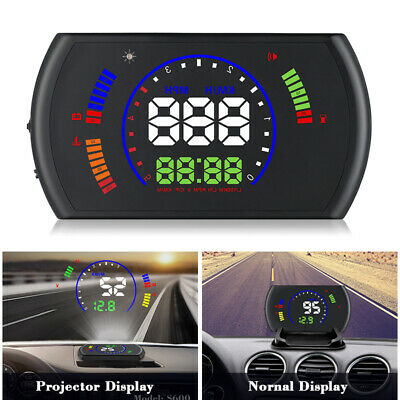 LKW Auto HUD Head Up Display Speed Warning OBDII Geschwindigkeit KFZ Tachometer