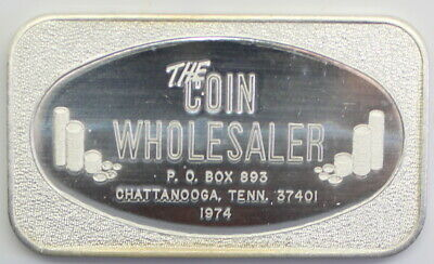 1974 The Coin Wholesaler Silver Art Bar Tennessee A9143