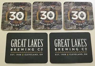 5 Great Lakes Brewing Co Cleveland OH Advertising Beer Bar Coasters