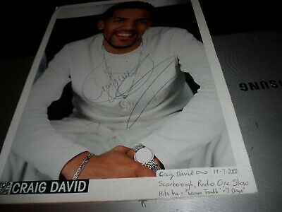 Autograph Genuine Picture On 12 X 8 Card Signed By Craig David 19-07-2000