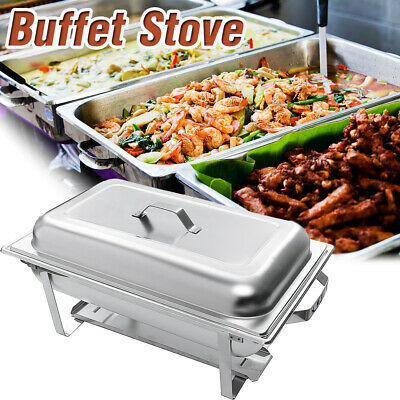 3 Plates Buffet Food Warmer Tray Chafing Dish With Alcohol Stoves Stainless  UK