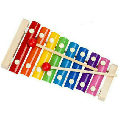 8 Notes Baby Kids Wooden Xylophone Piano Musical Music Instrument Toy Xmas Gift