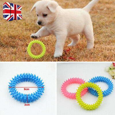 Dog Toy Puppy Dental Soft Rubber Teething Play Pet Train Chew Ring Healthy Gum H