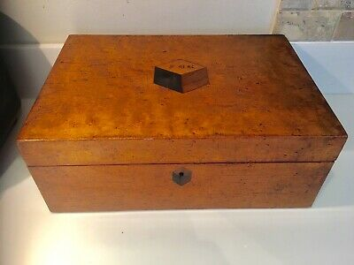 Original Antique Victorian Burr Walnut Inlaid Box