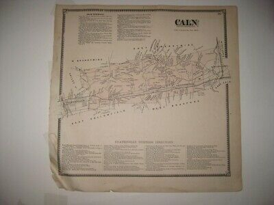 Antique 1873 Caln Township Chester County Pennsylvania Map Coatesville Thorndale