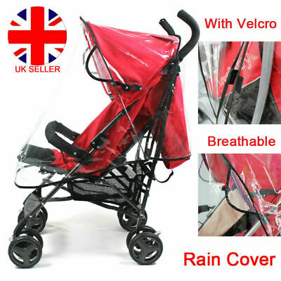 Universal Rain Cover Raincover Buggy Pushchair Stroller Pram Baby Car Clear UK
