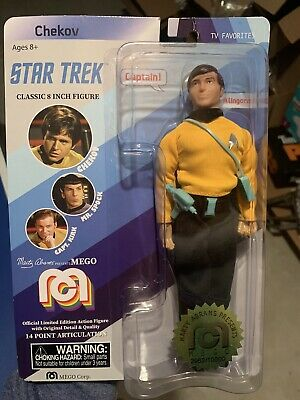 "New Mego Chekov Star Trek Classic 8"" Action Figure  Limited #2962/10000"