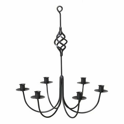 Wrought Iron new 6 arm Candle Chandelier