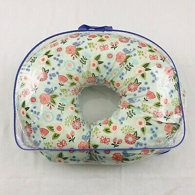 Boppy Pillow & Cover Turquoise Floral Garden Theme Nursing Baby Breastfeeding