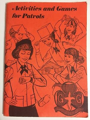 Vintage The Girl Guides Association Book - Activities and Games for Patrols 1976