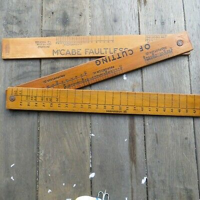 Vintage wood MCabe Fautless System Of Cutting Old Tools