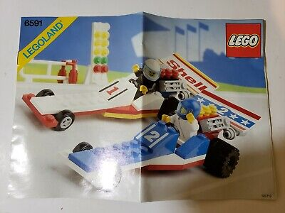 Lego Classic Town #6591-Nitro-Dragsters Complete with manual and minifigs