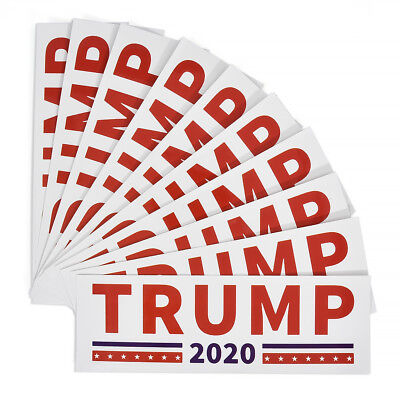 10pcs Donald Trump for President 2020 Make America Great Again Stickers Bumpers