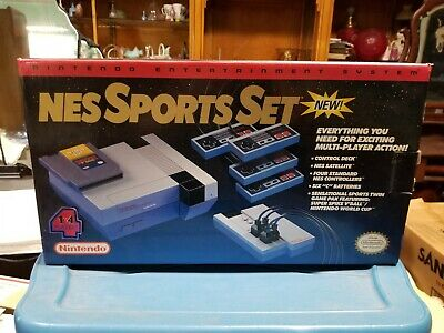 NEW Nintendo NES Sports Set BOX with 2 Unused in Package NOS Contollers