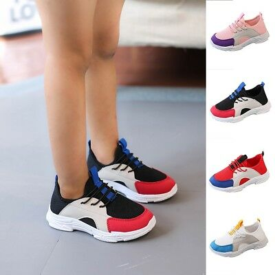 Children Baby Boy Girls Sport Running Breathable Mesh Sneaker Casual Shoes Cool