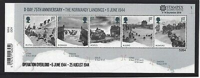 GREAT BRITAIN 2019 STAMPEX OVERPRINT D-DAY UM, MNH, No. 5264 LIMITED EDITION