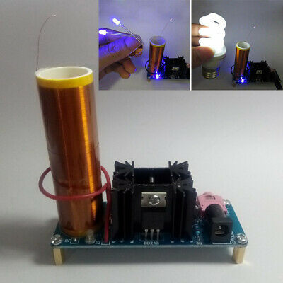 NEW 15W Mini Tesla Coil Speaker Kits Electronic Field Music DIY Project Toy #USA