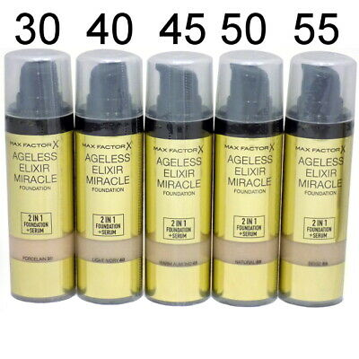 Max Factor Ageless Elixir Miracle 2 in 1 Foundation + Serum choose your shades