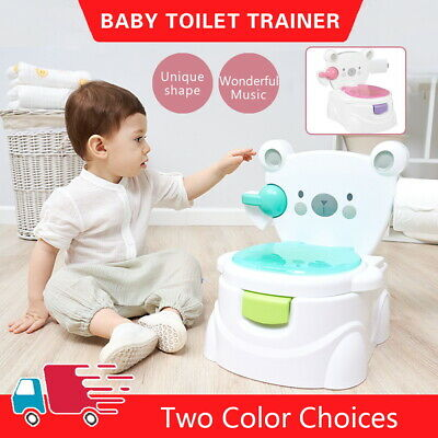 Baby Toilet Trainer Child Toddler Kid Music Seat Potty Training Chair Safety UK