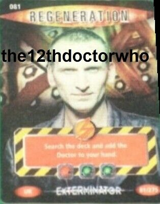 Dr Doctor Who BATTLES IN TIME Exterminator - ULTRA RARE CARD 081 REGENERATION