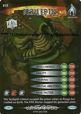 Dr Doctor Who BATTLES IN TIME Ultimate Monsters SUPER RARE CARD 815 TERILEPTIL