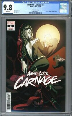 """Absolute Carnage #2  Kris Anka """"Cult of Carnage"""" Variant  1st Print CGC 9.8"""