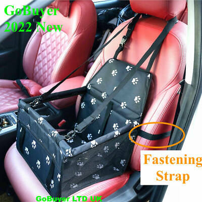 Dog Car Seat Booster - Foldable & Seat Belt