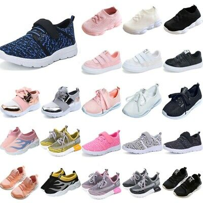 Kids Boys Girls Sports Shoes Pumps Sneakers Trainers PE Casual School Shoes Size
