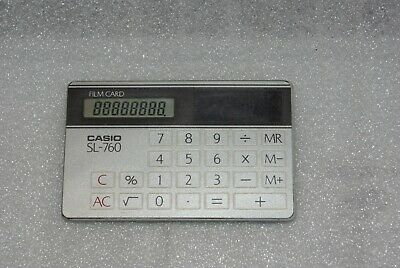Vintage Casio Sl-760 Solar Power Film Card Calculator
