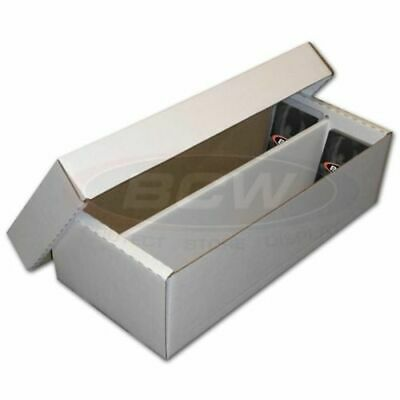 5x 1600 CT Count BCW Corrugated Cardboard Storage Shoe Boxes box holds toploads