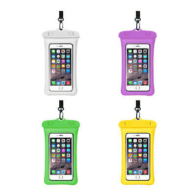 Waterproof Floating Underwater Mobile Phone Cover Case Dry Pouch Bag w/Lanyard