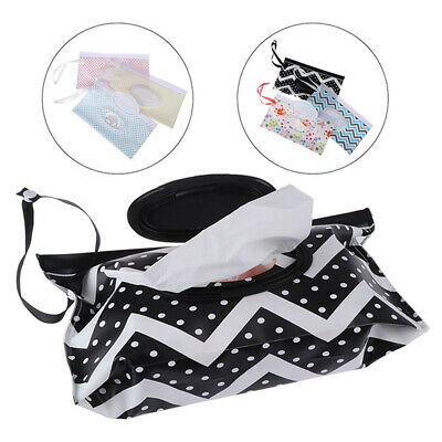 Wet Wipes Bag Snap Strap Clamshell Cosmetic Pouch Cleaning Wipes Napkin Box
