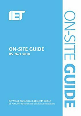 On-Site Guide (BS 7671:2018) (Electrical Regulations) by Technology New..