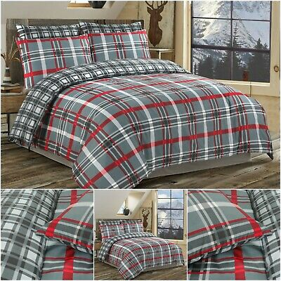 Check Duvet Cover Quilt Bedding Set 100% Egyptian Cotton Bed Sets Double King