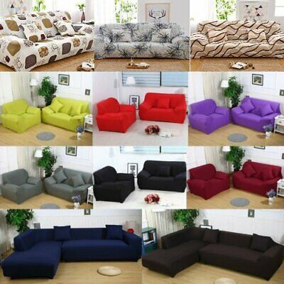 2/3/4 Seater Elastic Sofa Covers Slipcover Settee Stretch Floral Couch Protector
