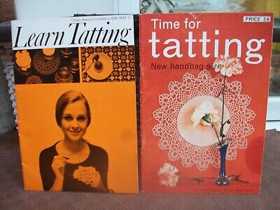 coats tatting booklets learn tatting  number 1088 & time for tatting number 813