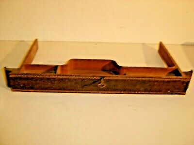 Oak Center Drawer for Treadle Sewing Machine with key  604