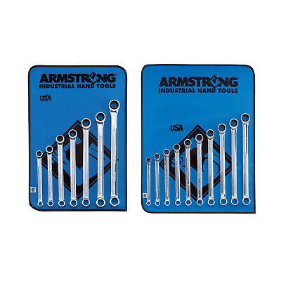 Armstrong 27-708: 17pc, 12pt Full Polish Geared Box Wrench Set, SAE & Metric