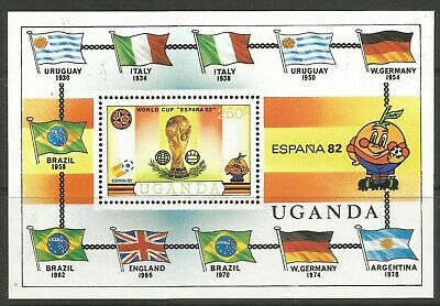 STAMPS-UGANDA. 1981. World Cup Football - Spain M/Sheet. SG: MS363. MNH.