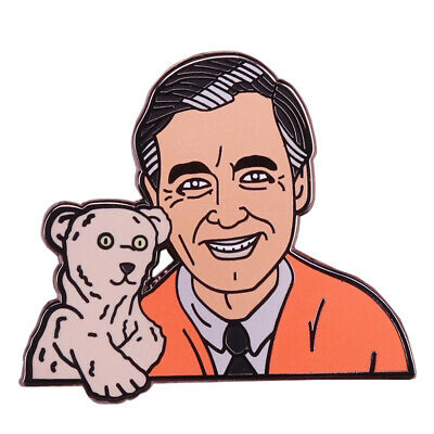 Fred Rogers Enamel Pin Cute Puppet Bear Brooch Mr Rogers Neighborhood 3 99 Picclick Uk