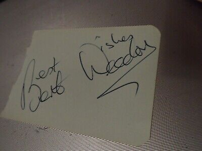 Autograph Page Loose Genuine 1960S  Bert Weedon  Scarborough Floral Hall