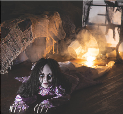 Halloween Decorations Scary Horror Animated Crawling Creepy Woman Outdoor Decor
