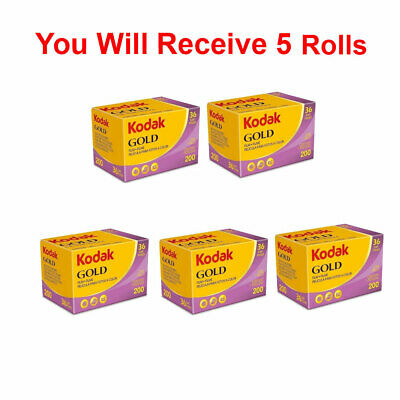 5 Rolls Kodak Gold 200 36 35mm Film Color GB 135-36 1/2021