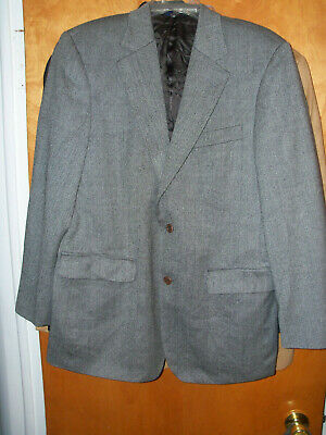 Men's  Brooks Brothers 346 Gray Blazer Sport Coat Jacket 4O Reg 2 But Lambs Wool