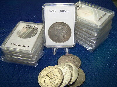 10 Coin Holders Slab Style ** for US Morgan or Peace Dollar** -- size 38 mm**