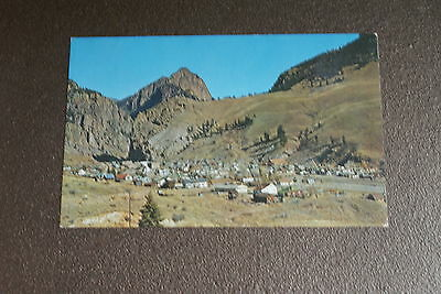 Old Vintage Postcard Creede Colorado CO Mining Town Air View Aerial maybe RPPC